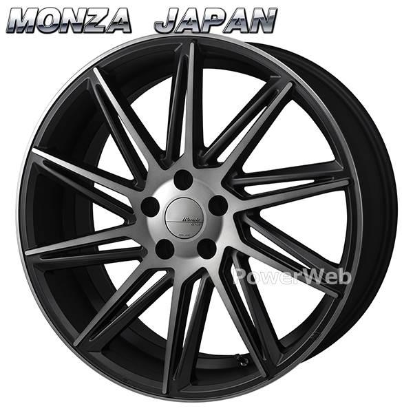 MONZA JAPAN Warwic REVOX (ワーウィック レヴォックス) ハーフグロスブラック/ブラッククリア 18インチ 8.0J PCD:114.3 穴数:5 inset:45 [ホイール単品4本セット]
