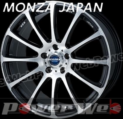 MONZA JAPAN ECOTEX MCM012 (エコテック MCM-012) ブラックメタリックポリッシュ 18インチ 8.0J PCD:114.3 穴数:5 inset:38 [ホイール単品4本セット]