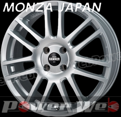 MONZA JAPAN HAWNER W07 (ハウナー W07) スーパーシルバーペイント 16インチ 6.5J PCD:112 穴数:5 inset:54 [ホイール単品4本セット]