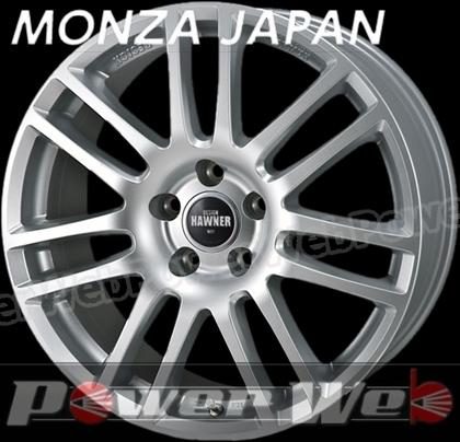 MONZA JAPAN HAWNER W07 (ハウナー W07) スーパーシルバーペイント 16インチ 6.5J PCD:100 穴数:4 inset:42 [ホイール単品4本セット]