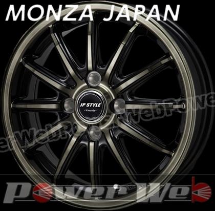 MONZA JAPAN JP STYLE VERCELY (JPスタイル バークレー) ブラック/ブラッククリアポリッシュ 16インチ 6.0J PCD:100 穴数:4 inset:42 [ホイール単品4本セット]