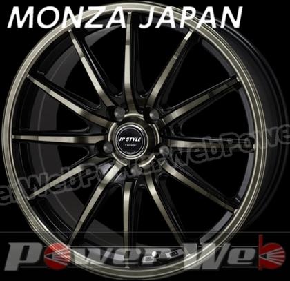 MONZA JAPAN JP STYLE VERCELY (JPスタイル バークレー) ブラック/ブラッククリアポリッシュ 16インチ 6.5J PCD:114.3 穴数:5 inset:53 [ホイール単品4本セット]
