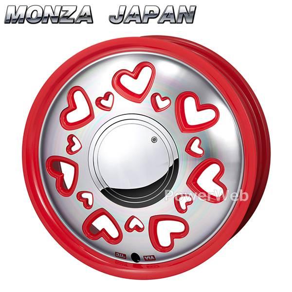 MONZA JAPAN K Quty (K キューティー) レッドポリッシュ 14インチ 4.5J PCD:100 穴数:4 inset:43 [ホイール単品4本セット]