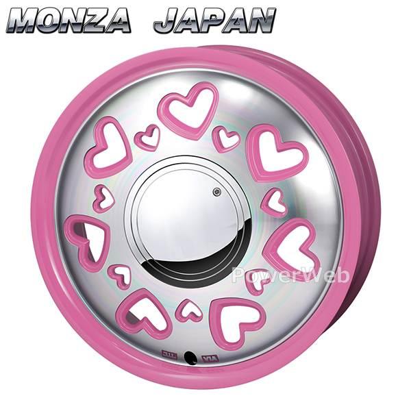 MONZA JAPAN K Quty (K キューティー) ピンクポリッシュ 14インチ 4.5J PCD:100 穴数:4 inset:43 [ホイール単品4本セット]