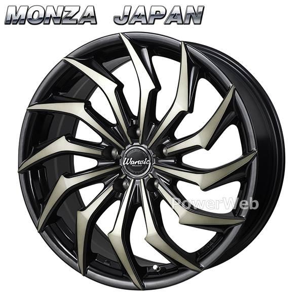 MONZA JAPAN (モンツァジャパン) Warwic HARVEL (ワーウィック ハーベル) ブラック&ブラッククリアポリッシュ 20インチ 8.5J PCD:114.3 穴数:5 inset:45 [ホイール1本単位]