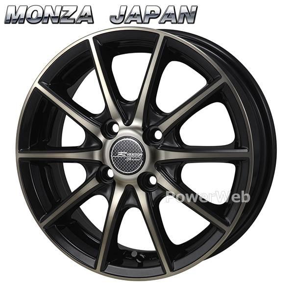 MONZA JAPAN (モンツァジャパン) R VERSION SPRINT (Rバージョン スプリント) ブロンズクリア/ブラックポリッシュ 15インチ 5.5J PCD:100 穴数:4 inset:43 [ホイール単品4本セット]