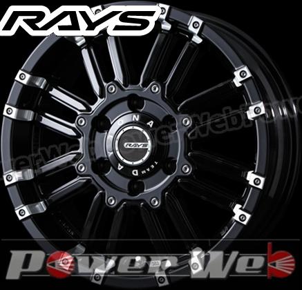 RAYS(レイズ) DAYTONA MRX (デイトナ KCX) 17インチ 8.0J PCD:139.7 穴数:6 inset:20 カラー:ブラック/ダイヤモンドカット [ホイール単品4本セット]