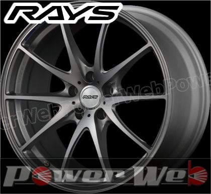 RAYS(レイズ) VOLK RACING G25 LTD (ボルクレーシング G25 リミテッド・エディション) 19インチ 9.5J PCD:120 穴数:5 inset:50 FACE-2 プレスドアッシュグレー [ホイール1本単位]