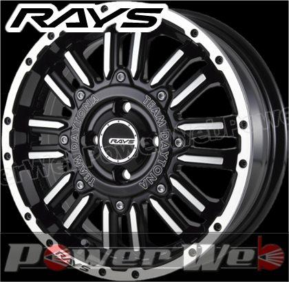 RAYS(レイズ) DAYTONA MRX.H (デイトナ エムアールエックス.エイチ) 15インチ 5.0J PCD:100 穴数:4 inset:48 ブラック/フルダイヤモンドカット [ホイール単品4本セット]