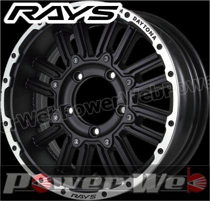 RAYS(レイズ) DAYTONA MRX.J (デイトナ エムアールエックス.ジェイ) 16インチ 5.5J PCD:139.7 穴数:5 inset:0 セミグロスブラック/リムダイヤモンドカット [ホイール1本単位]