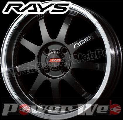RAYS(レイズ) KC DECOR A・LAP-P (KC デコール エーラップ ピー) 16インチ 6.5J PCD:100 穴数:4 inset:45 FACE-1/L ダイヤモンドブラック/リムDC [ホイール1本単位]