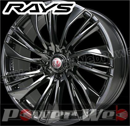 RAYS(レイズ) VERSUS STRATAGIA Conquista (ベルサス ストラテジーア コンキスタ) 19インチ 7.5J PCD:114.3 穴数:5 inset:42 ブラッククロームコーティング [ホイール1本単位]