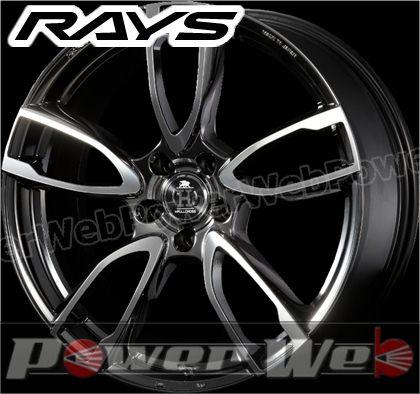 RAYS(レイズ) HFULL CROSS Rp5 (フルクロス Rp5) 19インチ 8.0J PCD:100 穴数:5 inset:48 ブリリアントノアール [ホイール1本単位]