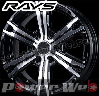 RAYS(レイズ) DAYTONA FDX-HC (デイトナ FDX HC) 17インチ 6.5J PCD:139.7 穴数:6 inset:38 ブラック/ダイヤモンドカット [ホイール単品4本セット]