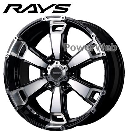 RAYS DAYTONA FDX-G6 (デイトナ FDX G6) ブラック/ダイヤモンドカット 17インチ 8.0J PCD:139.7 穴数:6 inset:20 [ホイール1本]