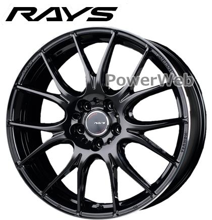 RAYS HOMURA 2×7PLUS (ホムラ ツーバイセブン プラス) グロッシーブラック/リムエッジDC 18インチ 7.5J PCD:100 穴数:5 inset:50 [ホイール4本セット]