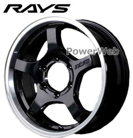 RAYS gram LIGHTS 57CRX (グラムライツ 57CR-X) ブラック/リムDC 17インチ 6.5J PCD:139.7 穴数:6 inset:38 [ホイール1本]