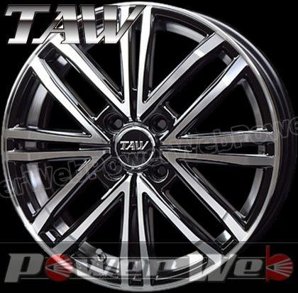 TAW (トライアルファ) Leowing PS Four (レオウィング PSフォー) 16インチ 5.0J PCD:100 穴数:4 inset:45 ブラックポリッシュ/アンダーカットポリッシュ [ホイール単品4本セット]