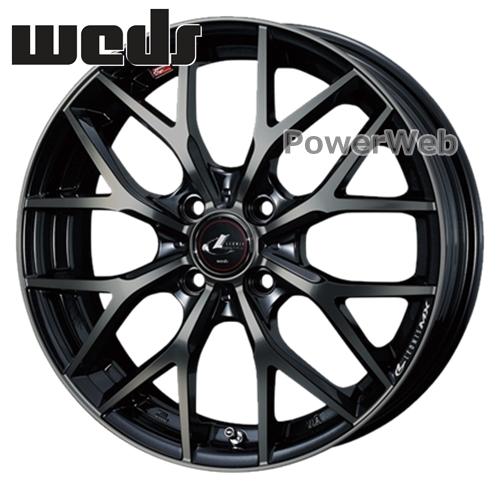 LEONIS MX (レオニス MX) 15インチ 4.5J PCD:100 穴数:4 inset:45 パールブラックミラーカット/チタントップ Weds [ホイール単品4本セット]