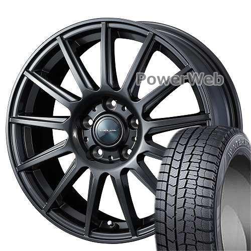 WINTER MAXX 02 225/60R16 98Q DUNLOP ?VELVA IGOR Weds ディープメタル 16×6.5 114/5H +39 トヨタ平面ナット スタッドレス&ホイールセット
