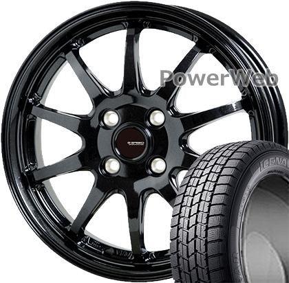 ICE NAVI 7 155/70R13 75Q GOODYEAR ?G.speed G04 HOT STUFF メタリックブラック 13×4.0 100/4H +45 スタッドレス&ホイールセット