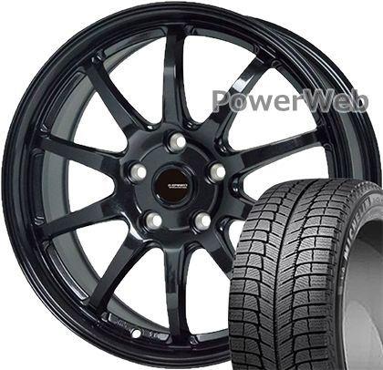 X-ICE 3+ 215/65R16 102 XL MICHELIN ?G.speed G04 HOT STUFF メタリックブラック 16×6.5 114/5H +38 スタッドレス&ホイールセット