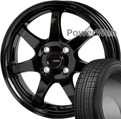 GARIT G5 165/65R13 77Q TOYO ■G.speed G03 HOT STUFF メタリックブラック 13×4.0 100/4H +45 スタッドレス&ホイールセット:PowerWeb