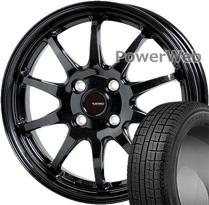 GARIT G5 175/65R14 82Q TOYO ?G.speed G04 HOT STUFF メタリックブラック 14×5.5 100/4H +45 スタッドレス&ホイールセット