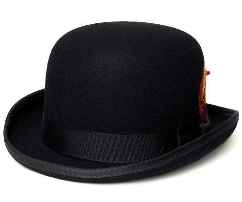ニューヨークハット 帽子 ボーラーハット フェルトハット New York Hat 5007 Classic Derby クラシック ダービー Black 大きいサイズ メンズ レディース 送料無料 あす楽 春夏秋冬