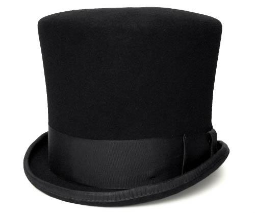 【送料無料】 New York Hat ニューヨークハット #5008 18t Century Topper 18世紀 トッパー , Black 【 帽子 フエルトハット シルクハット 大きいサイズ メンズ レディース 男女兼用 】