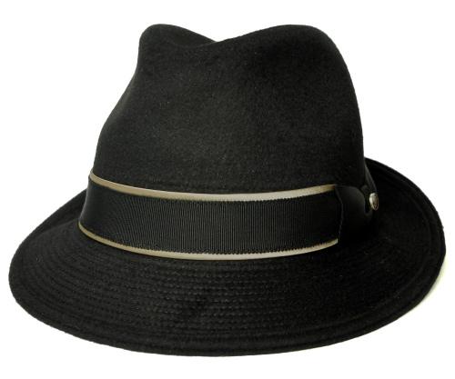 【送料無料】Borsalino(ボルサリーノ) ボルサリーノ型 BX704 , ブラック [ 帽子 中折れハット アンゴラ メンズ レディース 男女兼用 ギフト ]