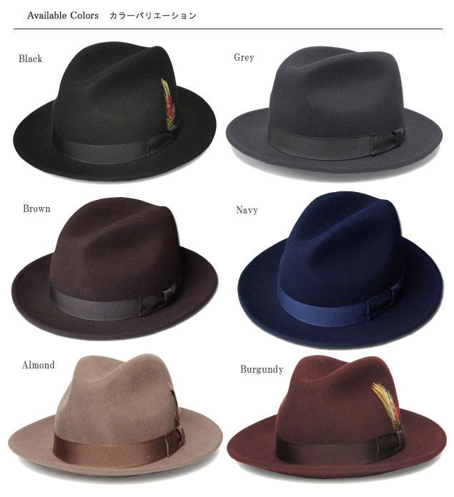 5319 New York Hat The Fedora ニューヨークハットザフェドラブラックグレーネイビーブラウンアーモンドバーガンディー hat  soft felt hat hat gentleman men gap Dis ... b464469ad6f