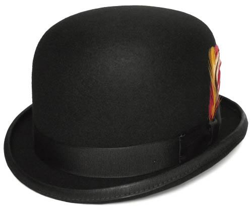 ニューヨークハット 帽子 フエルトハット ボーラーハット New York Hat 5016 The Stan ザ スタン Black ダービーハット 大きいサイズ メンズ レディース 男女兼用 あす楽 送料無料