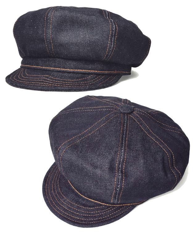 紐約的帽子紐約帽子 6221 denimstetchspitfire 棺材裡黑黑藍色靛藍牛仔布男性女性男性女性大