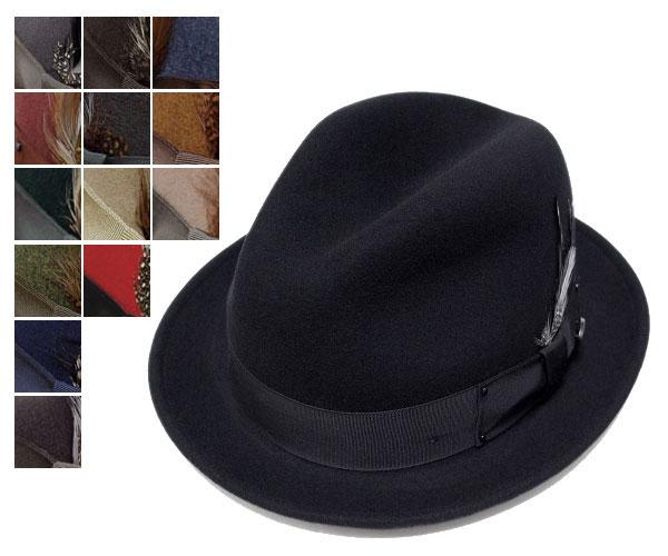 送料無料 Bailey ベイリー Hollywood Series ハリウッドシリーズ 7001 TINO ティノ 全15色 帽子 フェルトハット 中折れハット 紳士 婦人 メンズ レディース 男女兼用