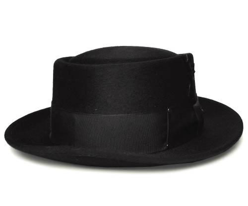 e9863ab6cd591 Bailey Bailey Hollywood Series 1451 JETT POKE PIE Jet pork pie Black Hats  felt hats men's ...