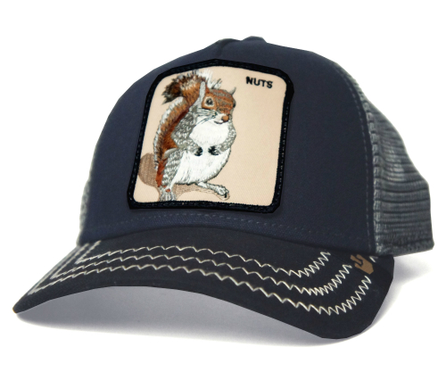 7c87d12291e8b5 Goorin Brothers Goorin brothers Squirrel Master square master Navy Hat Cap  mesh animal mens Womens unisex ...