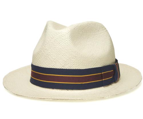 送料無料 CHRISTYS LONDON クリスティーズ ロンドン 18210 Stripe Panama Hat ストライプ パナマ ハット ホワイト 帽子 麦わら帽子 ストローハット 中折れハット メンズ レディース 男女兼用 ギフト