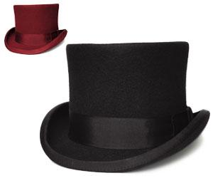 送料無料 CHRISTYS LONDON クリスティーズ ロンドン 24260 TOPPER HAT トップハット ブラック レッド 帽子 フェルトハット  シルクハット メンズ レディース 男女兼用 ギフト あす楽