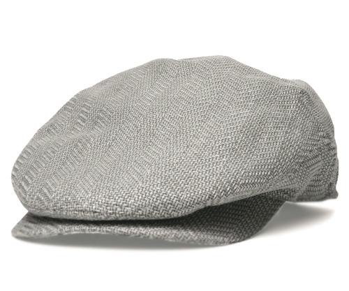 送料無料 CHRISTYS LONDON クリスティーズ ロンドン 35023 ミニヘリンボン ハンチング グレー 帽子 メンズ レディース 男女兼用 ギフト