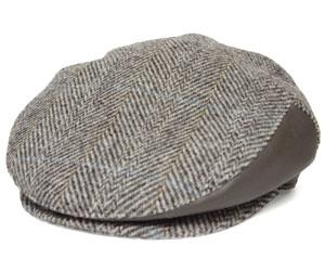 送料無料 CHRISTYS LONDON クリスティーズ ロンドン 30033 Harris Tweed Herringbone Hunting ハリスツイード ヘリンボン ハンチング グレー 帽子 紳士 婦人 メンズ レディース 男女兼用 ギフト あす楽