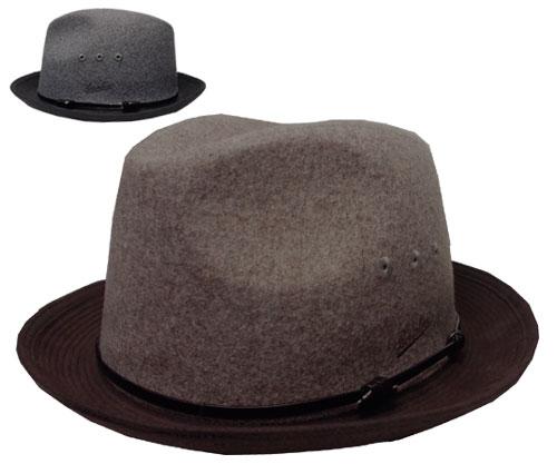送料無料 Borsalino ボルサリーノ 中折れハット BS378 グレー 茶 帽子 ハット スエード 紳士 婦人 メンズ レディース 男女兼用 ギフト 正規品