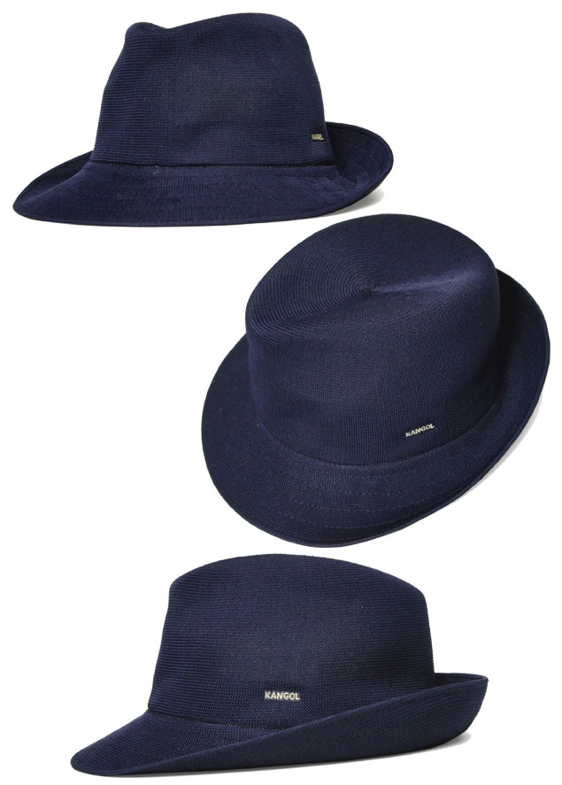 prast-inc  KANGOL perception goal HIRO TRILBY Hilo Trilby Navy hat ... 45bb1bab2
