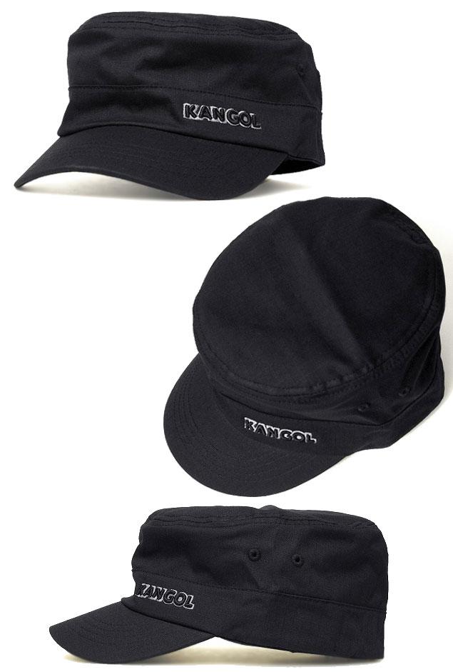prast-inc  KANGOL KANGOL RIPSTOP ARMY CAP Ripstop army Cap Black ... 7f331410b2