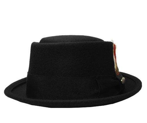 送料無料 Bailey ベイリー #3830 ARVID アルヴィッド Black 帽子 フェルトハット ポークパイ 中折れハット 紳士 婦人 メンズ レディース 男女兼用