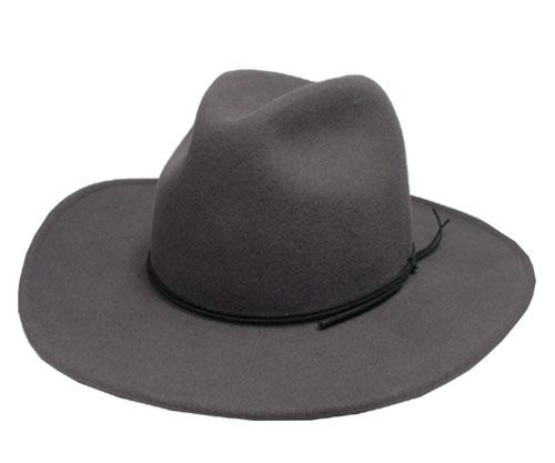 送料無料 New York Hat ニューヨークハット フェルトハット 5311 Rough Rider Slouch ラフライダー スロッチ Grey 帽子 フェルト帽子 中折れハット 紳士 婦人 メンズ レディース 男女兼用 あす楽