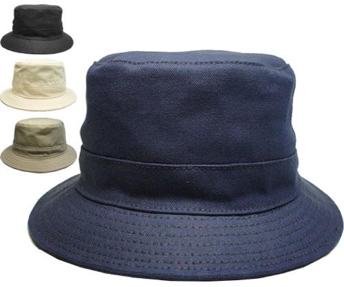 ニューヨークハット New York Hat 3026 CANVAS BUCKET キャンバスバケット Navy Black Natural Khaki メイビー ブラック ナチュラル カーキ 帽子 バケットハット アウトドア 大きいサイズ メンズ レディース 送料無料 あす楽