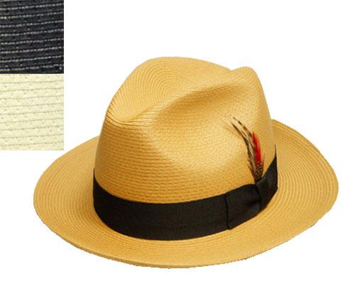 ニューヨークハット 帽子 ストローハット 麦わら New York Hat 2318 Sewn Braid Traditional ショーンブレイドトラディショナル Bamboo Black Natural バンブー ブラック ナチュラル つば長 送料無料 メンズ レディース 春夏 あす楽