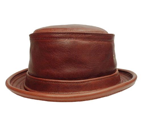ニューヨークハット 帽子 ポークパイ New York Hat 9247 vintageleather Stingy ヴィンテージレザー スティンジー カジュアルハット 大きいサイズ メンズ レディース 男女兼用 ギフト 別注