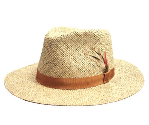 帽子 麦わら帽 ストロー ニューヨークハット New York Hat 1075 SEA GRASS TRAVELER Natural 中折れ テフロン 撥水 メンズ レディース ギフト